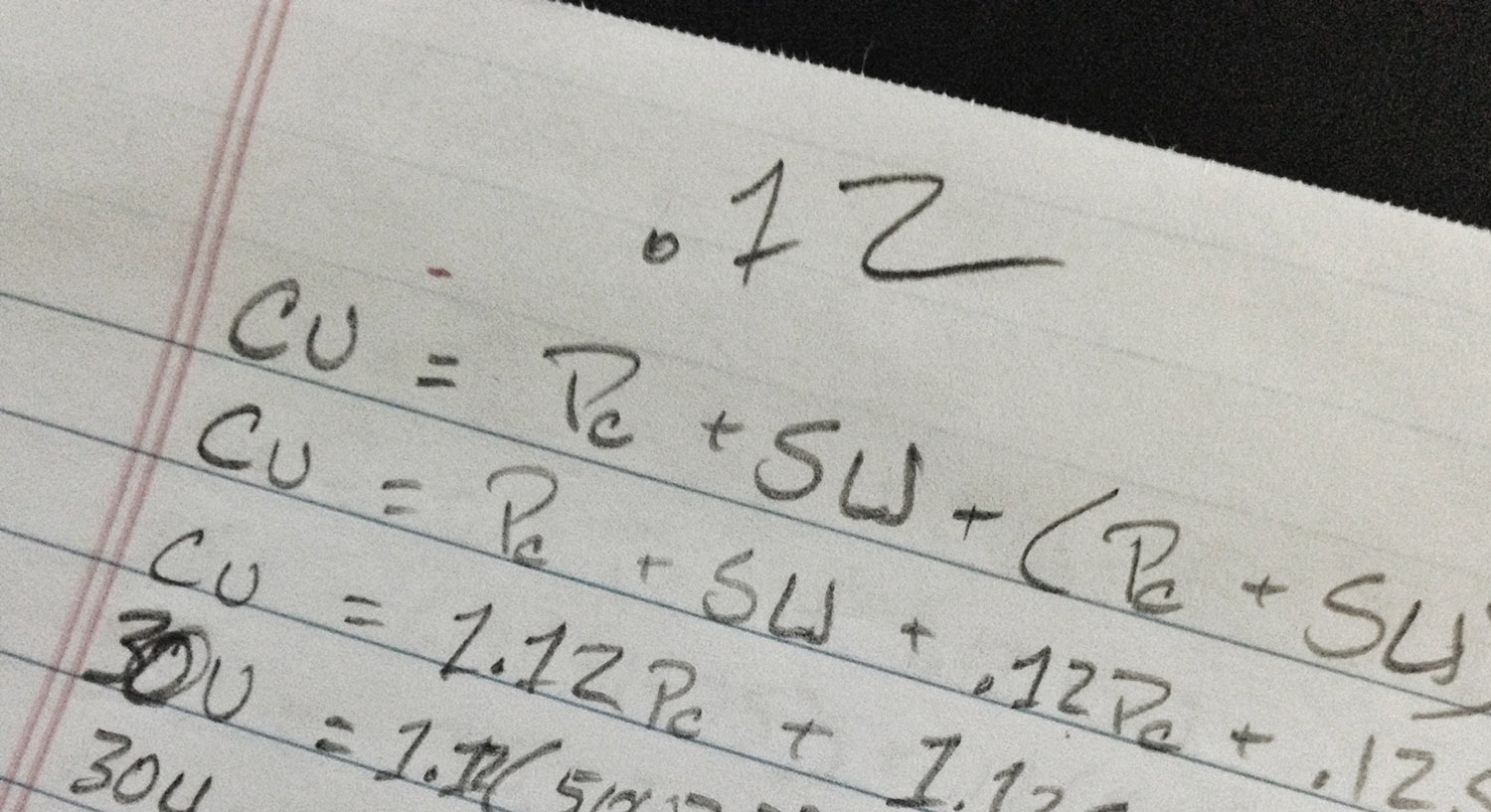 Glimpse of the mathematical formulae we came up with for determining kickstarter minumum goals.